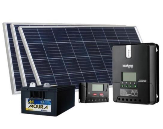 KIT SOLAR - 1 PL160W + CONT CAR 10A + BAT 105A OFF