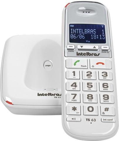 Telefone s/Fio TS63V Branco Intelbras