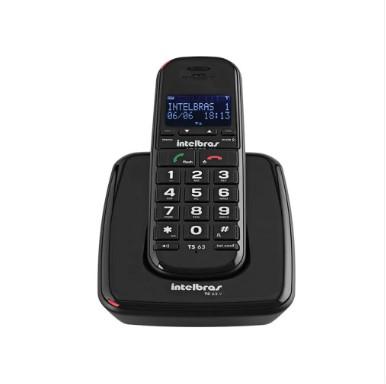 Telefone s/Fio TS63V Preto Intelbras