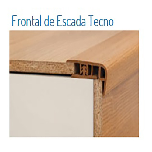 FRONTAL DE ESCADA TECNO 12 X 40 MM - CAPUCCINO